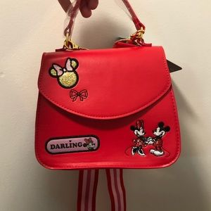 Minnie Mouse Disney Store Crossbody Patch Bag NWT